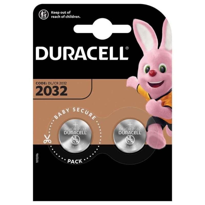 Piles DURACELL CR2032 par 2