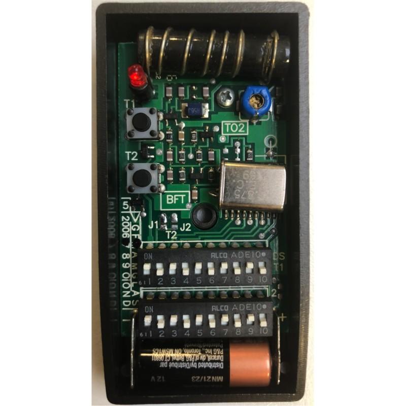 telecommande BFT TO2 30,875 programmation par dip switch